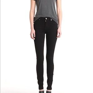 NWT 7 FOR ALL MANKIND high waisted black jeans